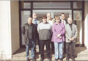 oben von links Klaus Speicher,Reiner Durm, Wolfgang Schreiner, unten von links Emil Dinies, Jürgen Fränzel, Monika Schwarz, Herbert Groh