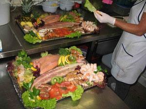 Unsere Fischplatten werden Ihren Wünschen angepasst.