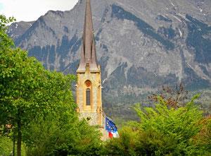 28. April 2013 - Die Schweiz liegt doch in Europa (Bad Ragaz, im Hintergrund Bündner Berge)