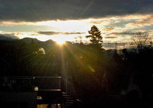 09. April 2013 - 07.08 Uhr - Da ist  sie ja, die Sonne!