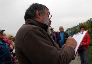24. Oktober 2012 - Appell im Weinberg