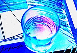 10. Juli 2013 - Abendrot im Glas