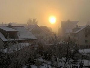 02. Dezember 2013 - Wer wird siegen - Sonne oder Nebel ?
