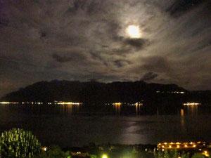 17. August 2013 - Mond über dem Genfersee