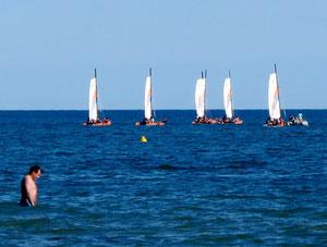 16. Juli 2012 - Fünf Segel und in Mann