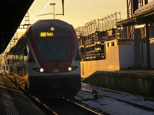 """23- Dezember 2012 - """"...der Zug fährt ein, die Bremsen"""