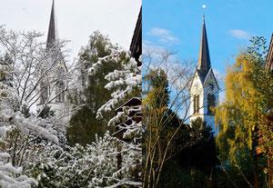 26. Oktober 2013 - Zwei Farbbilder vom 26. Oktober: links vor einem Jahr - rechts: heute Morgen