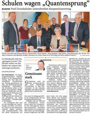 NWZ-Bericht zur Vertragsunterzeichnung vom 22.02.2011