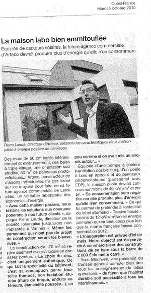 Ouest France 05/10/10