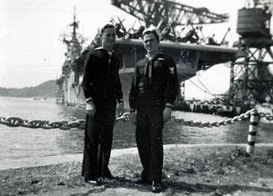 米兵と空母