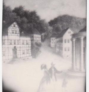Über der ersten Post ist das spätere Haus Hupka zu erkennen