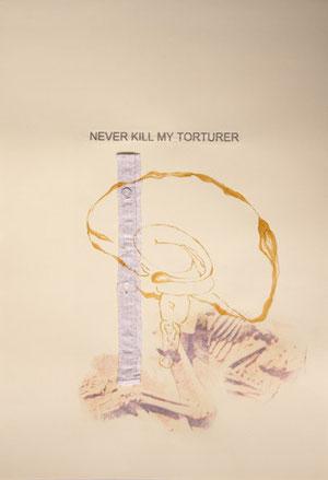 never kill my torturer, collage aus der mehrteiligen Serie subiectus : zugeHörig, 42 x 59,7cm, © 2012