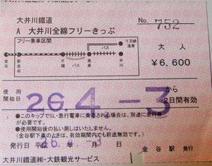 ...et  notre Oigawa & ABT Line Pass ainsi que nos réservations : nous voici parées !