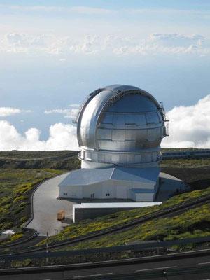 Das Gran Te Can. Derzeit größtes Einzelteleskop der Welt mit 10,4 m.