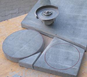 Ein Granittool anfertigen. Vom Viereck zum Achteck dann weiter zum Kreis