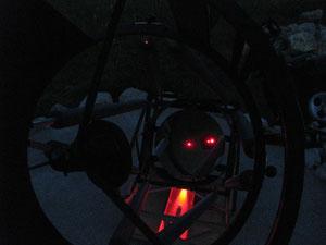 """16"""" bei der Lasercollimation"""