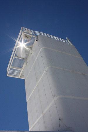 Das schwedische Sonnenteleskop SST mit  92 cm