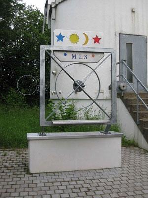 Symbolisch wird hier die Größe des Hauptspiegels dargestellt