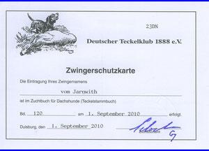 Die alte Zwingerschutzkarte vom Jarnwith