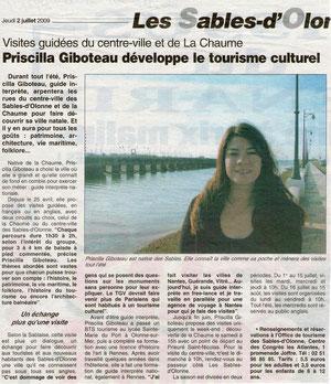 Le Journal des Sables 02/07/2009