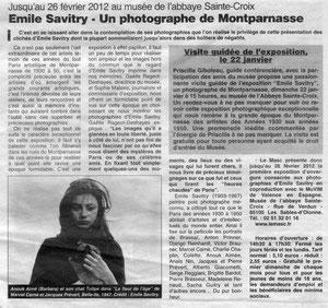 Ouest France janvier 2012