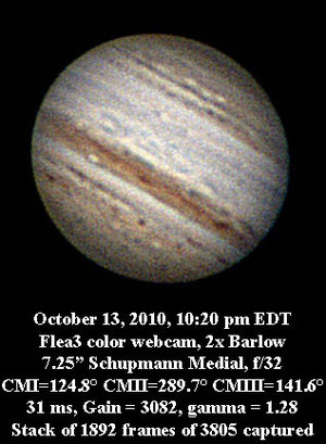 Jupiter 10 13 10 10:20 pm EDT