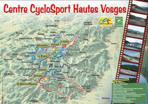 Radroutenkarte Hautes-Vosges