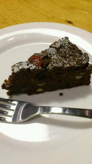 小豆とチョコの米粉ケーキ ドライクランベリー入り