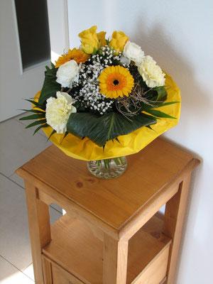 Danke für die Blumen zum Einzug