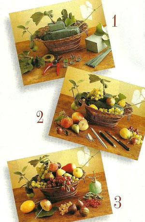 Bellissimo come centrotavola, ma anche come decorazione da rinnovare con frutta fresca, man mano che appassisce