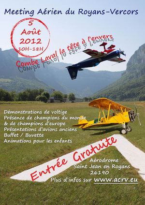 www.acrv.eu Saint Jean en Royans  2012 meeting aerien  Vercors voltige OV-10 bronco Stearman photos videos  Royans-Vercors