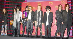 madame Tussauds show X Japan wax dolls Yoshiki Heath Sugizo Pata