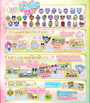 Tamagtchi P's many fun functions!