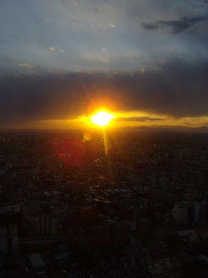 sun set in Tokyo 10 march 2011