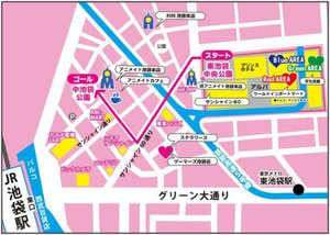 The route of the Cosplay parade