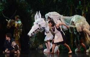 A scene from Princess Mononoke Whole Hog Theatre Source: Princess Mononoke Comittee / In association with WHT