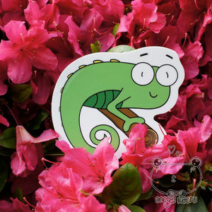 onegai kaeru gives out Cheeky Chameleon sticker