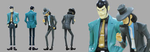 lupin iii and jigen real size dolls