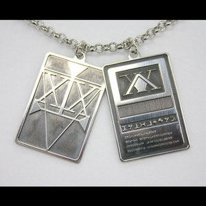 Huner x Hunter licence card real silver Necklace Source: Bandai