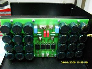 Блок питания, емкость конденсаторов 56400 мкФ на плечо