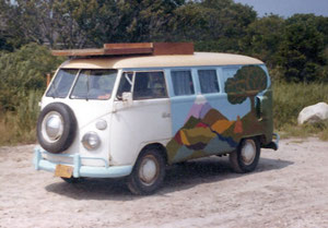 The '63 VW bus in 1974.