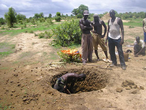 Association Faranfare Agricultural project - Construction of a well in Seke