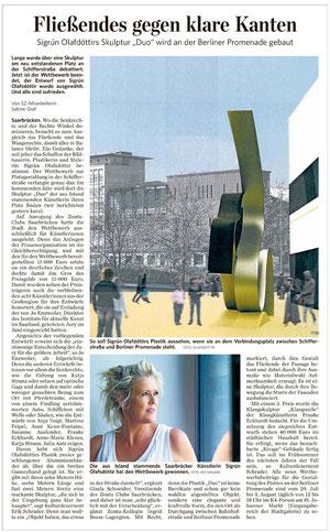 Saarbrücker Zeitung, Kultur Regional, Freitag, 25 . Juli 2014