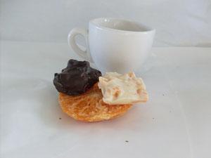 cioccolatini con ARANCIO DISIDRATATO