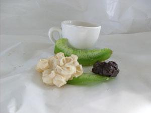 cioccolatini con SCORZA di POMELO VERDE disidratato ART.PML22