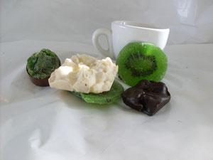 cioccolatini con KIWI disidratato