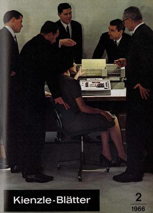 Titel der Betriebszeitung Kienzle-Blätter zur Hannover-Messe 1966