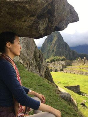 ペルー、マチュピチュにて