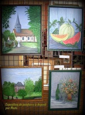 Exposition de peintures à Argueil par Mado