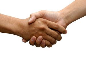 Handschlag, Hände schütteln